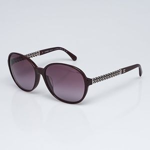 EUC Red Print Chain-Link CHANEL Sunglasses 5304-A